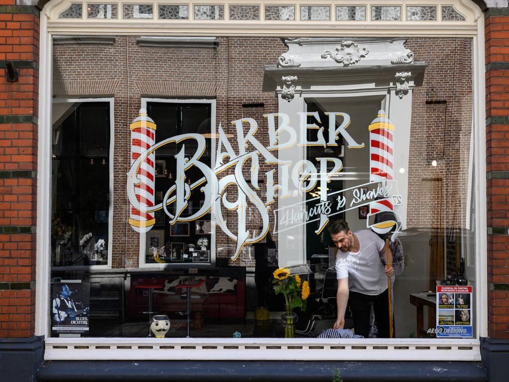 Classic Barber Shop Window