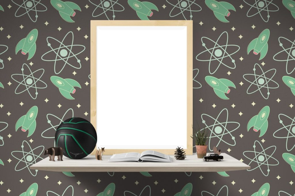 cool wall design space theme
