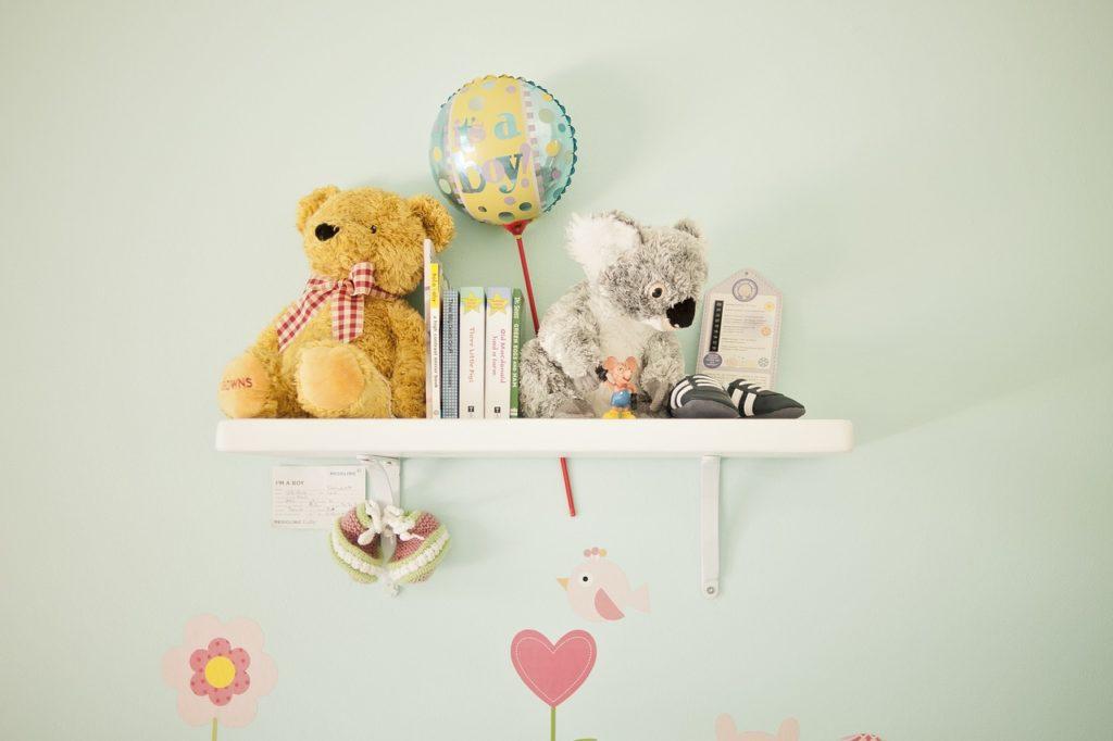 nursery decoration floating shelf