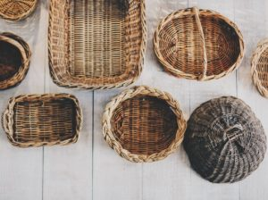 baskets for bathroom organization